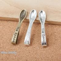 ingrosso braccialetto di fascino del cucchiaio-12 pz Vintage Charms cucchiaio Ciondolo Fit Bracciali Collana Gioielli In Metallo FAI DA TE MakingD007
