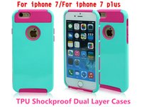 Wholesale slim armor shockproof case for sale – best For iphone plus Shockproof Dual Layer TPU Hybrid Rugged Armor PC Slim silicon Back Case Cover For iPhone S Plus S7 S6 edge Note