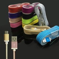 Wholesale Braided Type C Micro USB Cable M High Speed Charging USB Cable Durable Metal Connector Android USB Cable With No Package