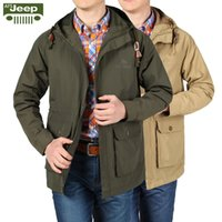 Wholesale Embroidery Menswear - Fall-Afsjeep menswear spring summer jacket Outdoor sports tourism breathable windproof water field bigger sizes thin hooded jacket