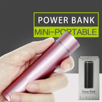Wholesale cylinder package - 2600mah Power Bank USB Battery Charger 18650 Cylinder Shape Portable Mobile Power Bank with Retail Package