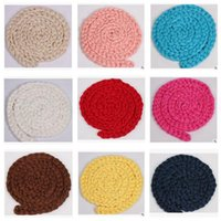 Wholesale 3m Photo Backdrop - Blanket Newborn Photo Props Twist Rope 3M-4M Wool Backdrop Baby Photography Prop Girls Boys Blanket 12 Colors DHL Free Shipping