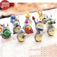 Wholesale Miyazaki Figures - New 12 PCS Hayao Miyazaki CATBUS Totoro My Neighbor DIY Anime Mini Figures Ha yao Japan Cartoon Micro Landscape Decorations Toys