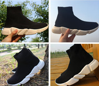 Wholesale Men Wholes Boots - Whole Black Mix White Speed Trainer Casual Shoe Man Woman Casual Boots High Quality Zoom Stretch-Knit Mesh Race Runner Cheap Sneaker Size 46