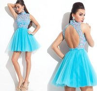 Wholesale Cheap Winters Dresses For Ladies - High Low Homecoming Dresses Sweetheart Elegant Beading Sequins Silver and Yellow Cheap Chiffon 2017 Prom Party Gown for Ladies Hot Sell