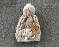 Wholesale Thanksgiving Sweaters Sale - Hot SALE fashion classic tight-fitting knitted sweaters plus ball hat the best quality of men women hat headdress Warm outdoor hat M025-1