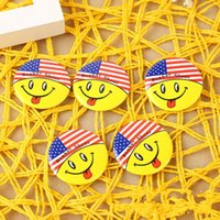 Wholesale Handbag Brooches - Emoji Badges Cute Acrylic Brooch Tinplate Badge Pin Clothes Collar Handbag Decor Student Personality Ornament 0 13sd F R