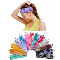 10 colori Tie-tintura larga panno di stretching fascia per le donne Sport Fitness Sweat Yoga Capo Headwear Bandage Headpiece