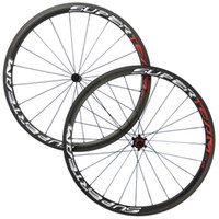 Wholesale road chinese - Superteam 38mm Clincher Tubular Carbon Wheelset With Powerway R36 Hub UD Matte Finish Chinese Carbon Wheel Bike Wheel