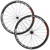 Wholesale chinese wheel bike - Superteam 38mm Clincher Tubular Carbon Wheelset With Powerway R36 Hub UD Matte Finish Chinese Carbon Wheel Bike Wheel