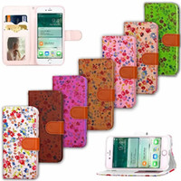 Wholesale Circle Silicone Iphone - Bling Glitter Flower Wallet Leather Case For Iphone 7 Plus I7 Iphone7 Bubble Circle Dot Pouch Card Stand Phone Soft Cover Fashion 50pcs