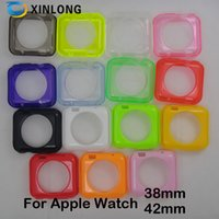 Pour Apple montre 38mm 42mm coloré 18 couleurs gelée TPU Gel Case Coverphone étui en stock