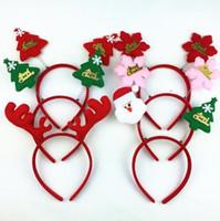 Wholesale Santa Claus Headbands - Santa Claus Style Christmas Party Headband Festival Costume Headband Adult Kids Gifts Cartoon Headband Christmas Decorations CCA7782 300pcs