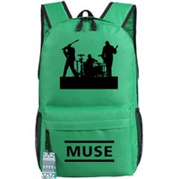 Women black progressive - Green Muse backpack Neo Progressive rock Matthew Bellamy school bag Pop music band day pack Hot sale daypack