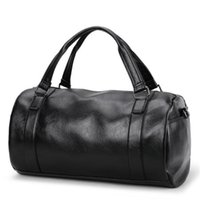 17 polegadas Men Genuine Leather Outdoor Gym Duffel Bag Travel Weekender Overnight Large Capacity Luggage Handbag