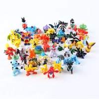 Wholesale Finish Model - 144 Styles Poke Figures Toys 2-3cm Pikachu Charizard Eevee Bulbasaur Suicune PVC Mini Model Toys For Children