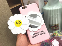 Wholesale Exclusive Cases - New 2016 Exclusive new mobile phone 7 small chrysanthemum Lens face hang rope camellia 6 s plus silica shell PC