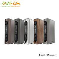 Wholesale Vw Original - Original Eleaf iPower 80W TC Box Mod with 5000mAh Battery VW Bypass Smart TC Mode Matching Melo 3