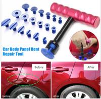 Wholesale Paintless Dent Repair Set - 19 pcs T Shape Auto Paintless Dent Repair Tools Set Car Scratch Hand Tool Kits Fast Shipping
