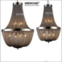 Wholesale Vintage Lamp Posts - Post Modern Chain Chandelier Light Fixture Vintage Hanging Suspension Lustre Lamp Light