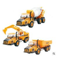 Wholesale Toy Model Pulling Trucks - Kids Toys 1:48 Pull Back Alloy Car Engineering Truck Model Excavators Cement Concrete Mixer Loarder Truck Diecasts Toy Vehicles for Boys