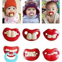 nippelzähne großhandel-Neugeborenes Baby lustiger Schnurrbartzahn-Friedensstifter Silikagel-Säugling Schnuller 14 Arten scherzt Nippel C2605