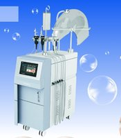 oxigênio terapia máquina de beleza venda por atacado-Máquina de Oxigênio Hiperbárico Facial Sistema de Peeling por Jato RF Sistema de Terapia Musical BIO Photon Apertar A Pele Equipamentos de Beleza Multifunções G882A