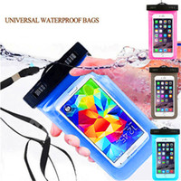 Wholesale Case For Mp5 - Universal Waterproof Pouch Case 6 inch PVC Protective Dry Bag Skin 20M Underwater Diving Cases with Lanyard Armbelt for Smart Phone MP5
