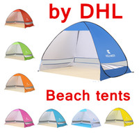Wholesale two door tents for sale - Group buy Beach tent Outdoors Tents the Summer Outdoors Tents Camping Shelters for Two People Double Aluminum Rod Against DHL Fast Shipping