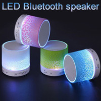 Wholesale LED Mini Wireless Bluetooth Speakers TF USB FM Portable Music Sound Box Subwoofer Hand free call For iPhone Mobile Phone PC with Mic