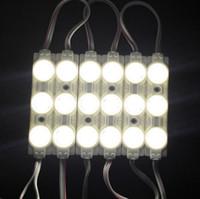 12v feu achat en gros de-100pcs 5730 3leds 40-45lm injection led module lumière avec objectif 160degree, DC12V String étanche IP65 Anti-feu ABS module led Rétroéclairage LED