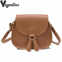 Wholesale Vintage Saddle Bags - 2017 New Arrival Women Handbags Fashion Designer Small Bag Saddle Shoulder Bags Girls Crossbody Bag Vintage Tassel Bags