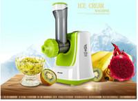 Wholesale Ice Cream Machines - Free shipping household automatic ice cream machine desktop machine salad