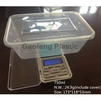 Wholesale Disposable Microwave PP Food Container Storage Lunch Box Plastic ml ctn