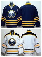 logo vierge jersey de hockey achat en gros de-Buffalo Sabres Blank Jersey Hommes Pour Les Fans De Sport Home Home Bleu Route Blanc Blank De Hockey Sur Glace Maillots Broderie Et Coudre Logo