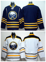 Wholesale buffalo logos - Buffalo Sabres Blank Jersey Men For Sport Fans Home Blue Road White Blank Ice Hockey Jerseys Embroidery And Sewing Logo