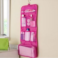 Wholesale Womens Hanging Toiletry Bag - Womens Ladies Travel Toiletry Folding Hanging Wash Cosmetic Makeup Storage Bag Portable Organizer For Outdoor Camping