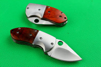 Wholesale mini utility knives - Newest Mantis Shootey Mini Tactical Folding Knife Steel Camping Hunting Survival Pocket EDC Tools Wood Handle Utility Gift Knife