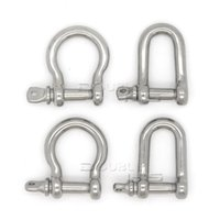 Wholesale Stainless Steel D Shackle - 10pcs lot Stainless Steel U D Anchor Shackle Screw Pin for Paracord Bracelet
