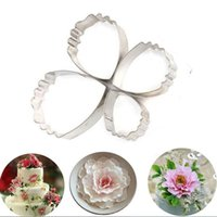4 Pcs / set Rose Petal bolinho bolo Cutters DIY Biscuit Pastry Kitchen Baking Mold Fondant Decor Wedding Party