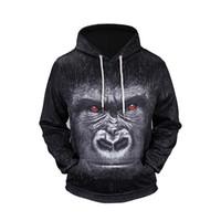 Wholesale Mr Natural - Brand Mr. 1991INC Orangutan 3d Printed Mens Hoodies and Sweatshirts Fashion Winter Autumn Coat Pullovers Hip Hop Sweatshirt BL-125