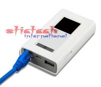 wifi usb gsm venda por atacado-5 conjuntos LTE GSM 4G Wifi Router Sem Fio Dongle Mifi com 5200 mAh Poder Modem Porta RJ45 Modem Global Desbloqueio