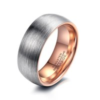 Wholesale Tungsten Couples Wedding Rings - 2016 Fashion Mens Womens Tungsten Carbide Steel Wedding Promise Ring Beveled Edge Band Ring Couple Wedding Bands Fashion Rings High Polish