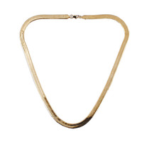 Wholesale Asian Ornament - Free shipping Africa real 24K gold-plated necklace! 7mm flat snake chain necklace Christmas ornaments Men Women