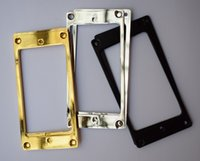 Wholesale Pickup Covers - 2PCS LOT Flat METAL Humbucker Pickup Frame Cover Plate For Electric Guitar in three color options