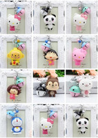 Wholesale live female doll - Cute two - color bells doll key chain bag pendant DIY accessories female children 's car small gifts R253 Arts and Crafts mix order