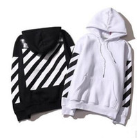 Wholesale Designer Hoodies Wholesale - Brand-2017 Lovers Men's Stripe Hoodies OFF-WHITE Sweatshirts Causal Hip Hop Cool Brand Designer Men Jesus Arrow Angel Cotton Hoodie Shirt