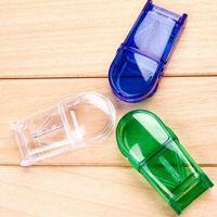 Wholesale Medicine Pill Cutter - Pill Cutter Splitter Half Storage Compartment Box Medicine Tablet Holder Home Storage Box Free Shipping ZA4485