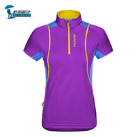 Wholesale Womens Hiking Shirts - Wholesale-Protective Brand New Quick Dry T Shirts Women Breathable Coolmax Womens Sport Short Sleeve T-shirt Outdoor Running Gym Fitness