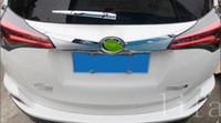 Wholesale Trim Chromed - ABS Chromed Rear Trunk Lid Cover Trim External Tail Decorative Strip Tail Door Sticker Fit For RAV4 RAV 4 2016 2017